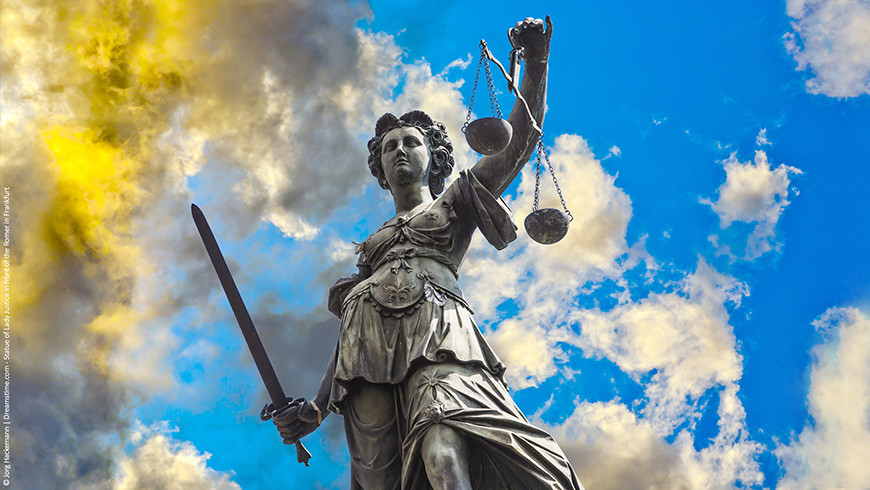 Holding the weight of the law in her hands