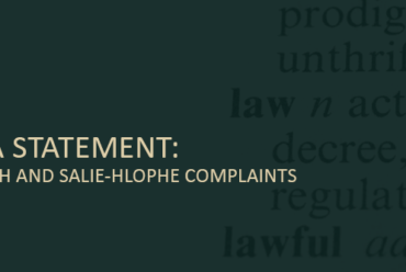 JCC Media statement: Hlophe, Goliath and Salie-Hlophe complaints