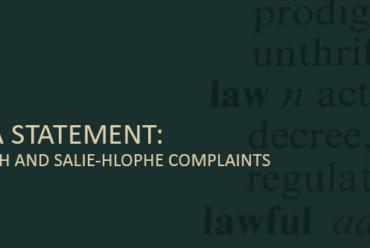 JCC Media statement: Hlophe, Goliath and Salie-Hlophe complaints