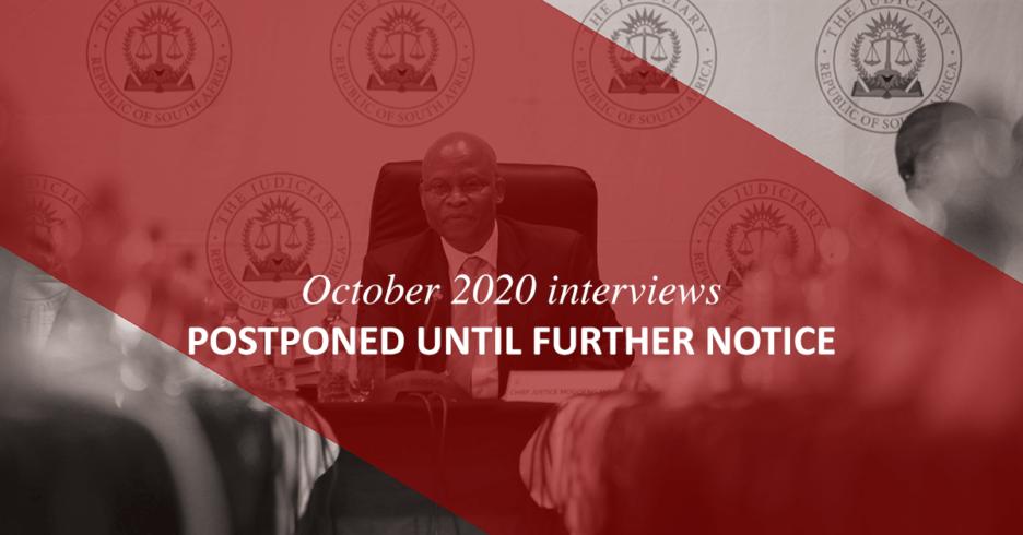JSC October 2020 sitting postponed until 2021